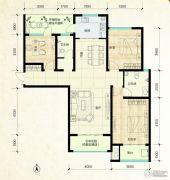 鑫界9号院3室2厅2卫135平方米户型图