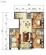 建投・洱海寰球时代3室2厅3卫145平方米户型图