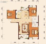 宏维・山水明城・卧龙苑3室2厅2卫131平方米户型图