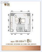 北辰・光谷里1室1厅1卫69平方米户型图