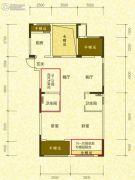 开元名郡4室2厅2卫116平方米户型图