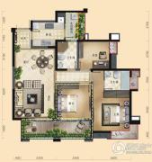三利云锦3室2厅2卫114平方米户型图