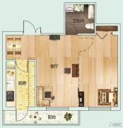 龙泽・金水尚都1室1厅1卫0平方米户型图