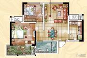 常发香堤半岛2室2厅1卫71平方米户型图