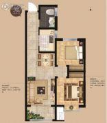 荣安・昭阳小镇2室2厅1卫73平方米户型图