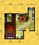 十三街区2室2厅1卫65平方米户型图