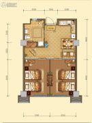 白鹿溪谷2室1厅1卫58平方米户型图