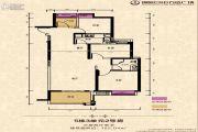 绵阳CBD万达广场3室2厅1卫102平方米户型图