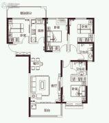 开元壹号4室2厅2卫141平方米户型图