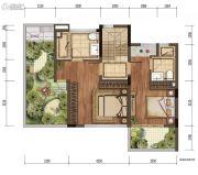 金辉中央�著2室0厅2卫0平方米户型图