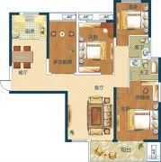 深业世纪新城4室2厅2卫118平方米户型图