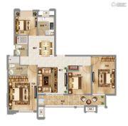 中南拂晓城4室2厅2卫131平方米户型图