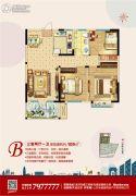 荣盛・锦绣外滩3室2厅1卫109平方米户型图