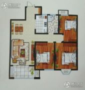 天中国际3室2厅1卫0平方米户型图