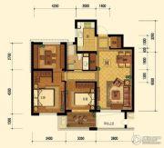 迎恩府2室2厅1卫86平方米户型图