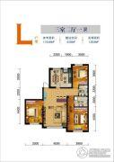 联发・香水湾3室2厅1卫125平方米户型图