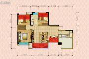 华邑阳光里3室2厅1卫90平方米户型图