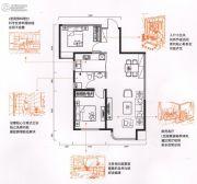 金色时光2室2厅1卫88平方米户型图