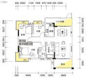 哈��小城二期3室2厅2卫0平方米户型图