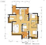 星光礼寓4室2厅2卫147平方米户型图