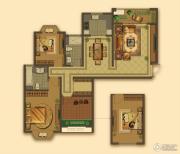 大名城3室2厅2卫120平方米户型图