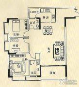 华诚都汇3室2厅2卫0平方米户型图