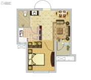 安联钓鱼台壹号1室1厅1卫0平方米户型图