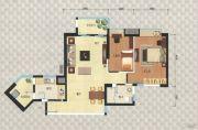 岭南新世界2室2厅1卫80平方米户型图