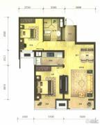 万科金域缇香2室2厅1卫85平方米户型图