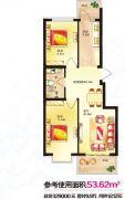 红星凯悦2室1厅1卫0平方米户型图