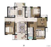 中航国际社区4室2厅2卫129平方米户型图