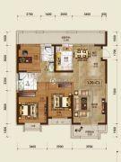 吉林昌邑万达广场3室2厅2卫120平方米户型图