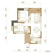 香江华府2室2厅2卫86平方米户型图