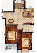 永业梦乐城2室2厅1卫106平方米户型图