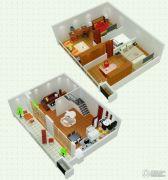 悠族2室2厅1卫57平方米户型图