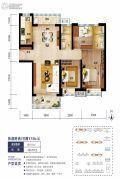 海口碧桂园3室2厅2卫111平方米户型图