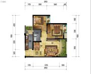 万象国际城2室2厅1卫75平方米户型图