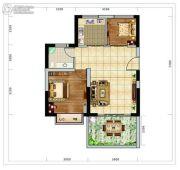 海南近海湾2室1厅1卫63平方米户型图