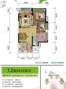 荔园悦享花醍2室2厅1卫90平方米户型图