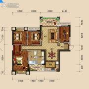 万盛・中央公馆4室2厅2卫135平方米户型图