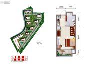 御锦城1室1厅1卫38--42平方米户型图