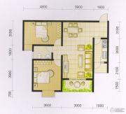波兰尚龙城2室2厅1卫91平方米户型图