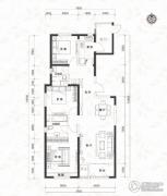 当代MOMA沿湖城3室2厅2卫135平方米户型图
