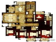 洛城中央御景4室2厅3卫228平方米户型图