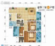 双发广场3室2厅2卫94平方米户型图