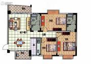 星悦蓝湾3室1厅2卫120平方米户型图
