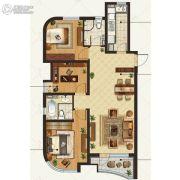 金地棕榈岛3室2厅2卫125平方米户型图