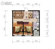 雷明锦程二期2室2厅1卫65平方米户型图