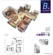 上力理想城3室2厅1卫106平方米户型图