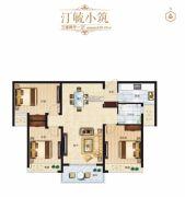 璞�_公馆3室2厅1卫0平方米户型图